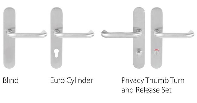 escutcheon option of SP07SL101 lever door handle sets