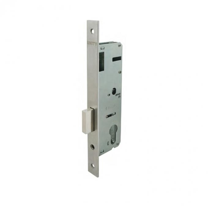 Narrow stile mortice door lock with latch for passage