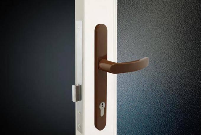 Narrow mortice lock with deadbolt lock security for unlatched doors
