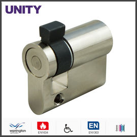 China Adjustable Cam Single Mortice Cylinder Brass Material Satin Nickel Key Switch supplier