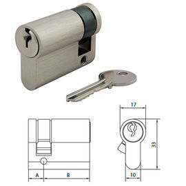 China Master Key Euro Lock Cylinder With Singe Profile To DIN18252 4 Hours Fire Test supplier