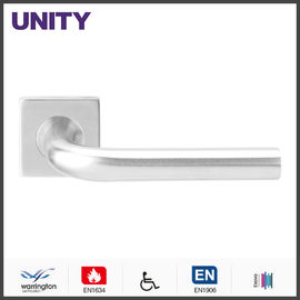 China Stainless Steel Fire Door Lever Handle EN1906 and EN1634 Satin Finish factory