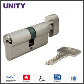 China Flat Key Security Mortice Lock Cylinder EN1303 Key and Turn Satin Chrome Fire Test factory