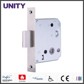 China Bathroom Door Locks PVD Black Finish With 38mm Bolt Through Compatibility factory
