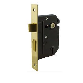 China Polish Brass Mortice Sash Fire Doors Lock For Sprung Furniture Bolt Fixing factory