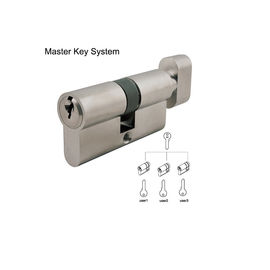 China Double Profile Commercial Door Lock Cylinder With Thumb Turn 60 - 120mm Size distributor